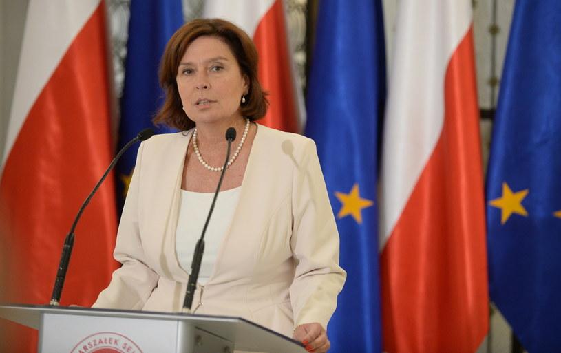 Marszałek Sejmu Małgorzata Kidawa-Błońska /Bartłomiej Zborowski /PAP