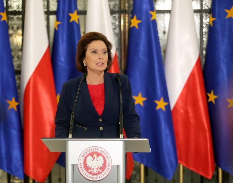 Marszałek Sejmu Małgorzata Kidawa-Błońska /Leszek Szymański (PAP) /PAP