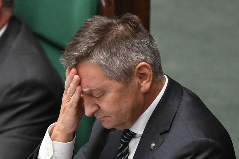 Marszałek Sejmu Marek Kuchciński nie podał się do dymisji /Rafal Oleksiewicz/REPORTER /Reporter