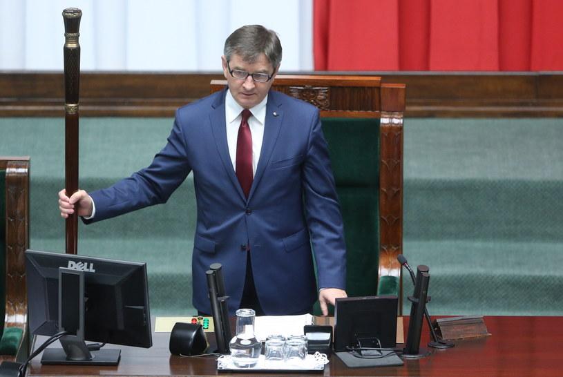 Marszałek Sejmu Marek Kuchciński /Leszek Szymański /PAP