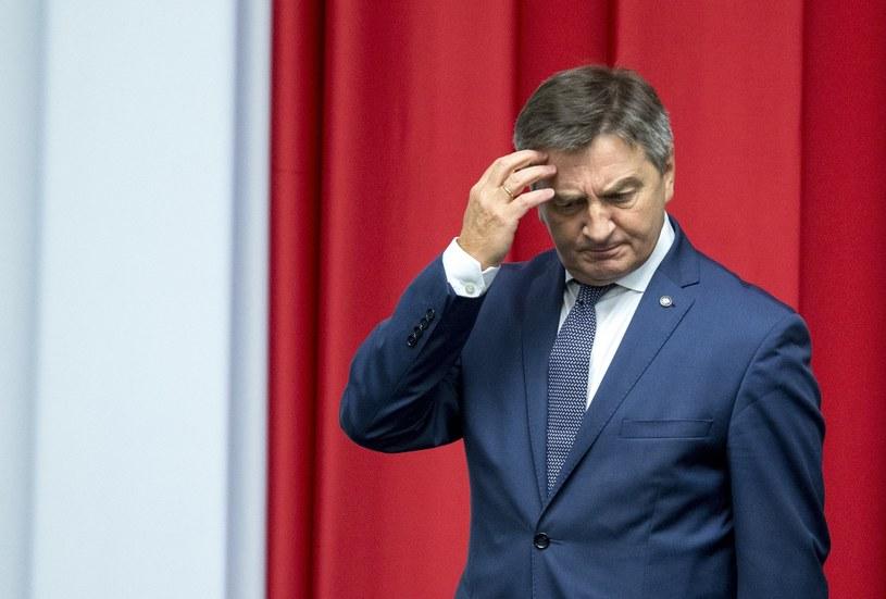 Marszałek Sejmu Marek Kuchciński /Andrzej Iwańczuk /Reporter