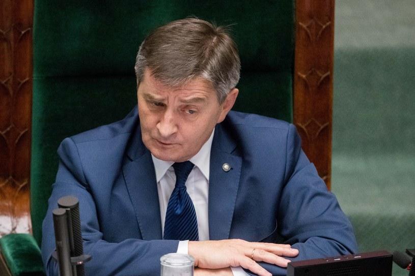 Marszałek Sejmu Marek Kuchciński /Adam Zwart /Reporter