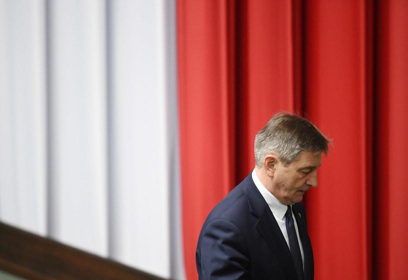 Marszałek Sejmu Marek Kuchciński /Radek Pietruszka /PAP