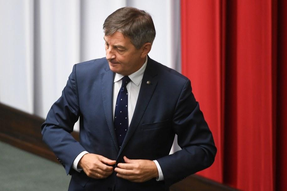 Marszałek Sejmu Marek Kuchciński /Bartłomiej Zborowski /PAP