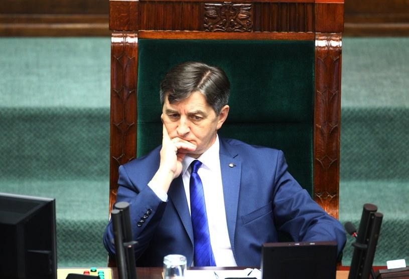 Marszałek Sejmu Marek Kuchciński /Fot. Stanislaw Kowalczuk /East News