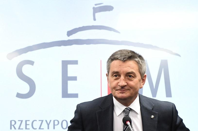Marszałek Sejmu Marek Kuchciński /Radosław Pietruszka /PAP