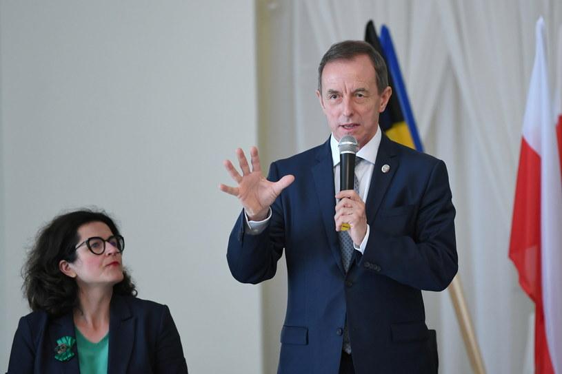 Marszałek Senatu RP prof. Tomasz Grodzki (C) / Adam Warżawa    /PAP