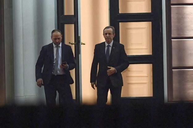 Marszałek Senatu Tomasz Grodzki po spotkaniu z prezydentem Andrzejem Dudą w Pałacu Prezydenckim / Radek Pietruszka   /PAP