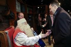 Marszałek Sikorski z wizytą u Świętego Mikołaja