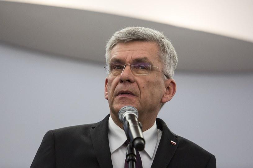 """Marszałek Stanisław Karczewski """"nie chce snuć odległych wizji"""" /Andrzej Hulimka  /Reporter"""