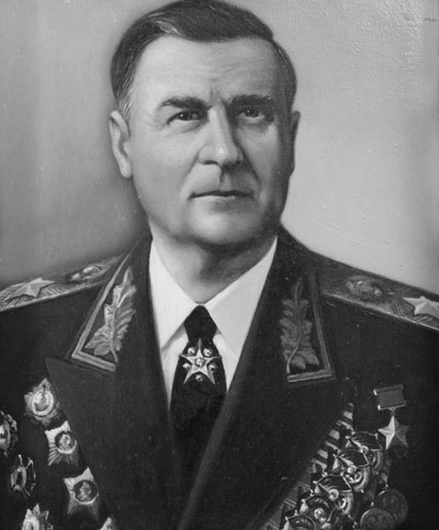 Marszałek Wasyl Sokołowski z pełną kolekcją odznaczeń /Archiwum autora
