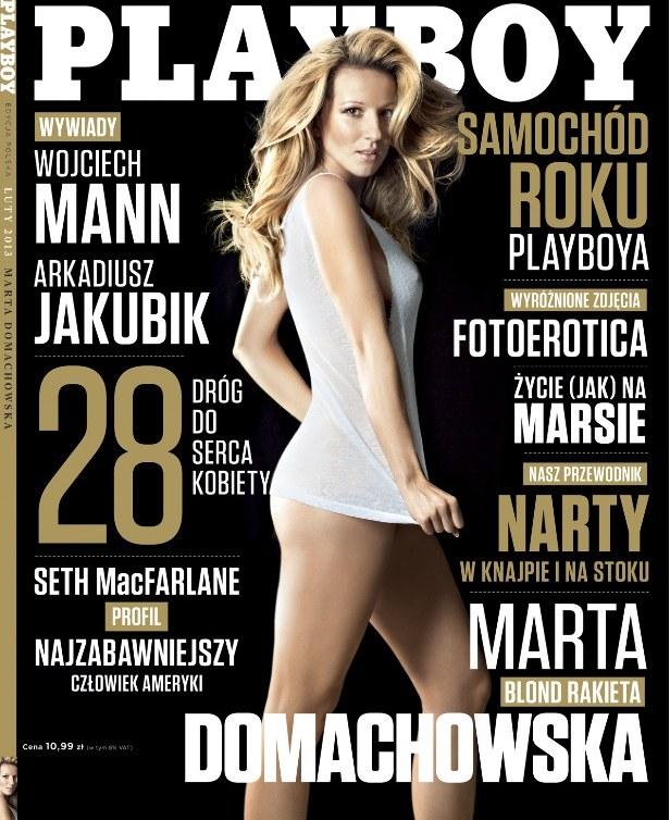Marta Domachowska na okładce magazynu Playboy, Fot: materiały prasowe /INTERIA.PL