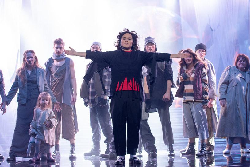Marta Gałuszewska jako Michael Jackson, Fot. M. Zawada /Polsat