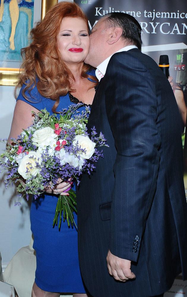Marta Grycan z mężem Adamem /Andras Szilagyi /MWMedia