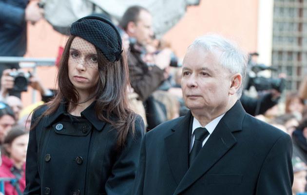 Marta i jej stryj, Jarosław Kaczyński. Fot. Jarosław Antoniak  /MWMedia