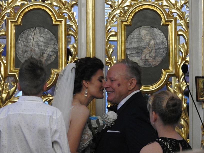 Marta i Mikołaj w dniu ślubu /Andrzej Zdanowicz / Polska Press /East News