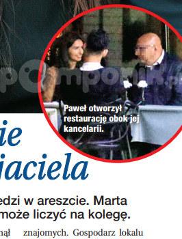Marta i Paweł podczas kolacji /Dobry Tydzień