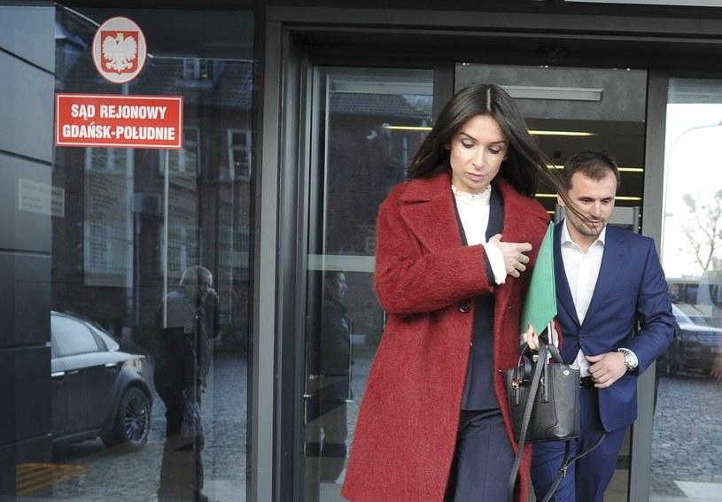 Marta Kaczyńska i Marcin Dubieniecki wychodzą z sądu /Misztal/REPORTER /East News