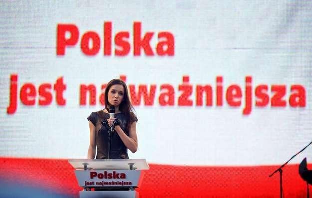 Marta Kaczyńska podczas kampanii prezydenckiej Jarosława Kaczyńskiego /AFP