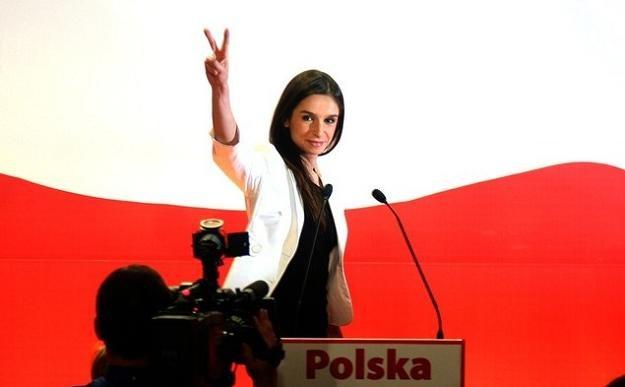 Marta Kaczyńska podczas kampanii wyborczej stryja, fot. A. Iwańczuk /Reporter