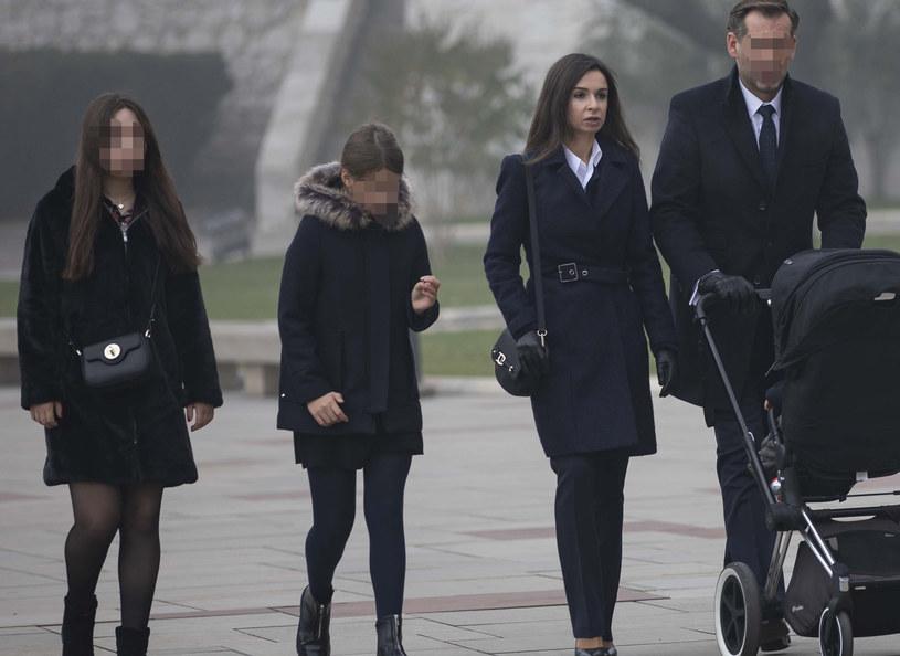 Marta Kaczyńska wraz z rodziną odwiedziła grób rodziców /Lidia Niziol /Agencja FORUM