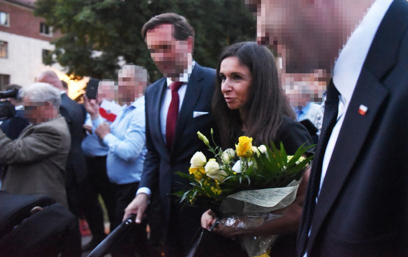 Marta Kaczyńska z mężem /M.Lasyk /Reporter