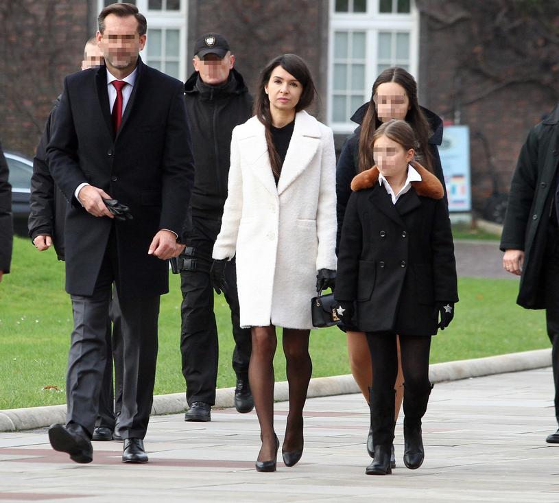 Marta Kaczyńska z Piotrem i córkami /Jacek Kozioł /East News