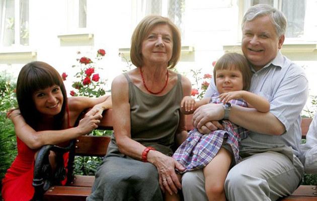 Marta Kaczyńska z rodzicami - mamą Marią i tatą Lechem, fot.Michał Rozbicki
