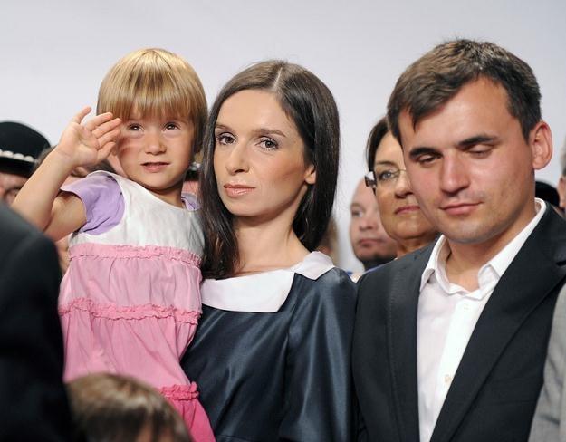 Marta Kaczyńska z rodziną, fot. Jan Bielecki /Agencja SE/East News