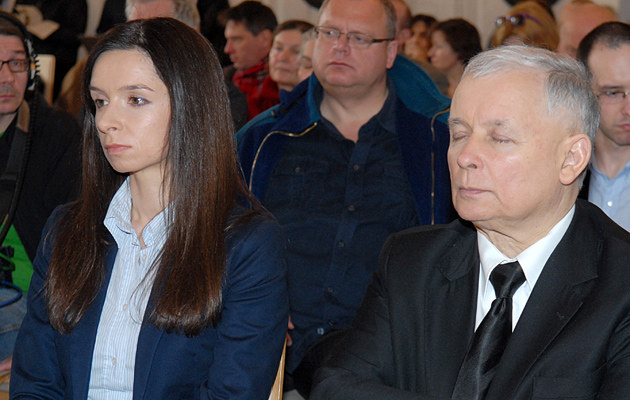 Marta Kaczyńska z wujem Jarosławem /Marek Ulatowski /MWMedia