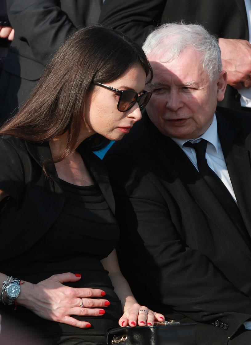 Marta Kaczyńska ze stryjem Jarosławem Kaczyńskim /Stefan Maszewski /Reporter