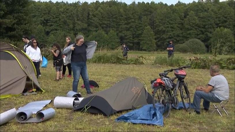 Marta Lempart na granicy polsko-białoruskiej /Polsat News