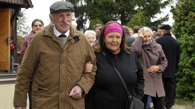 Marta Lipińska i Franciszek Pieczka /Gałązka /AKPA