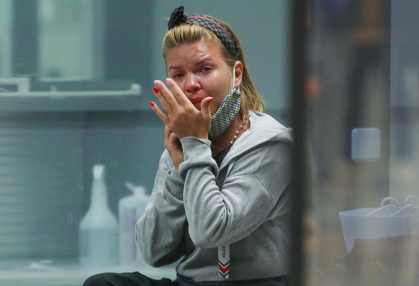 Marta Manowska na lotnisku /Newspix