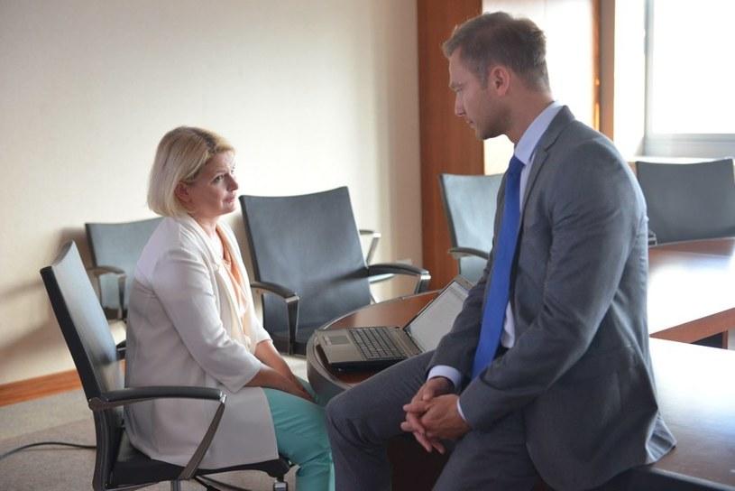 Marta najpierw urządzi Andrzejowi scenę zazdrości... /Agencja W. Impact