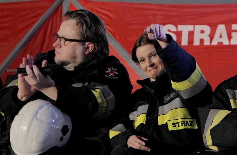 Marta Ścisłowicz i Olaf Lubaszenko /Jordan Krzemiński /AKPA