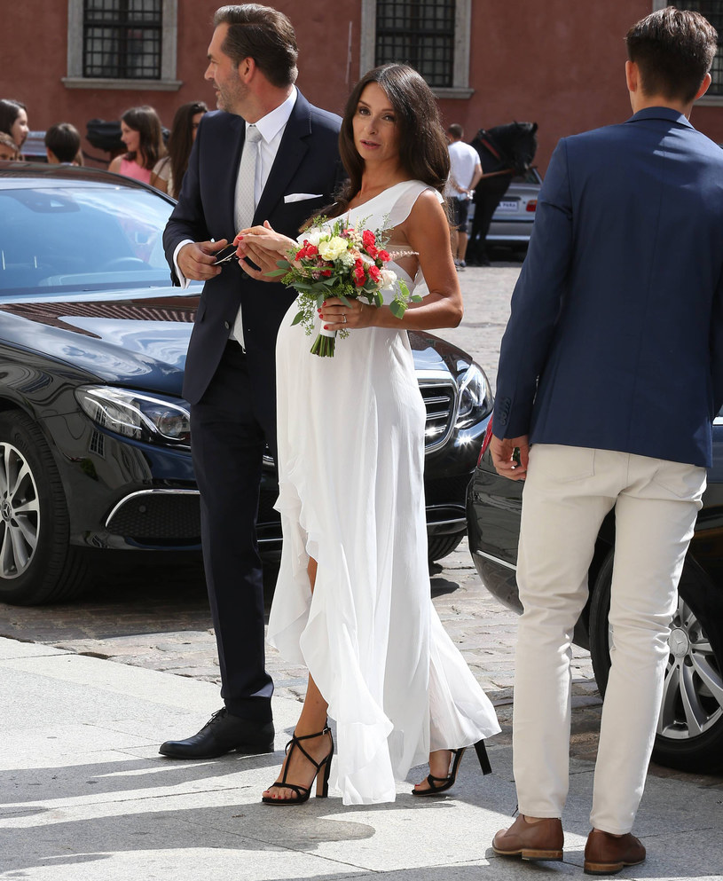 Marta w dniu ślubu /Newspix