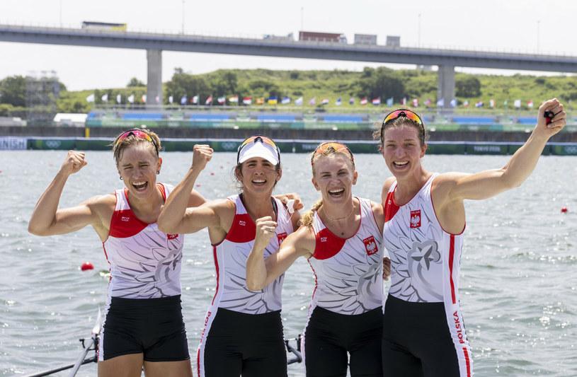 Marta Wieliczko wraz z koleżankami z osady zdobyła na igrzyskach w Tokio pierwszy medal dla Polski /Iwanczuk/Sport/REPORTER /East News