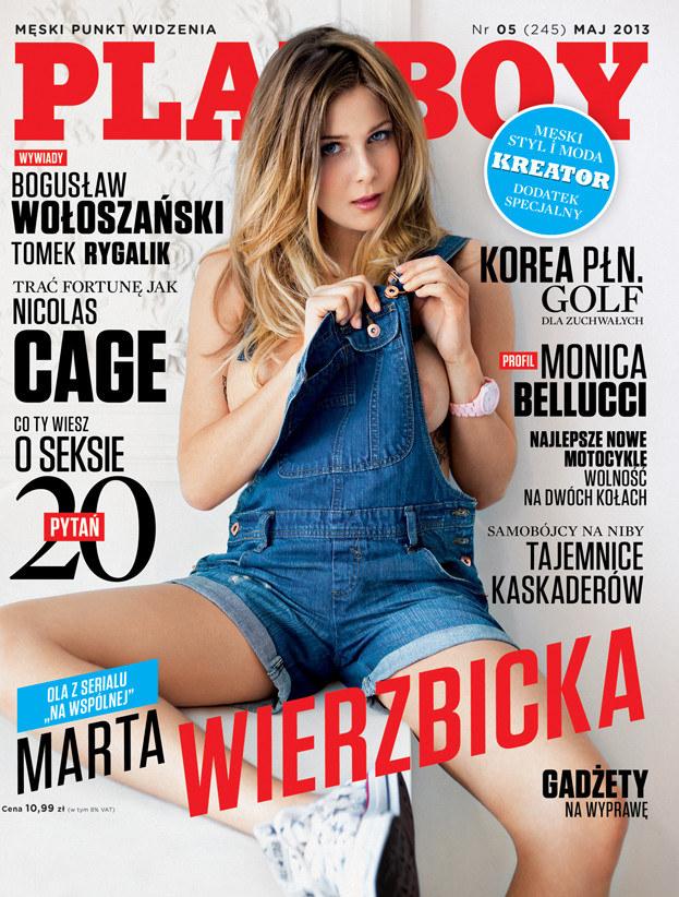 """Marta Wierzbicka na okładce """"Playboya"""" /materiały prasowe"""
