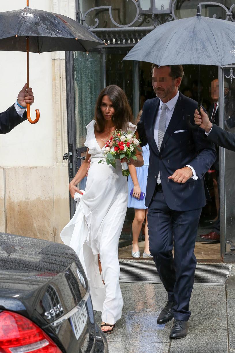 Marta z nowym mężem /Newspix