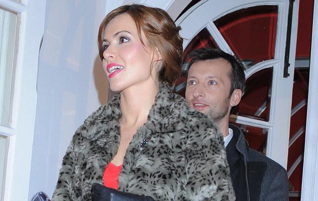 Marta Żmuda Trzebiatowska z narzeczonym na gali Telekamer, fot. Andrzej Szilagyi  /MWMedia