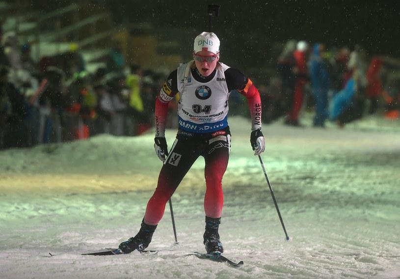 Marte Olsbu Roeiseland na trasie /AFP