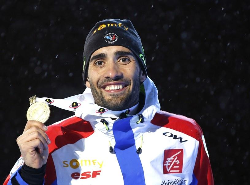 Martin Fourcade ma już na koncie trzy złote medale w Oslo /PAP/EPA