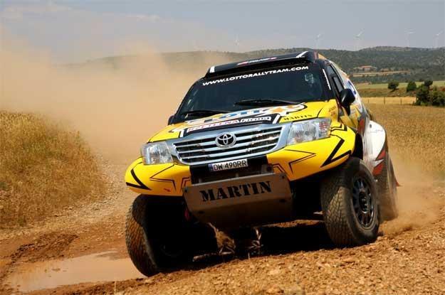 Martin Kaczmarski i jego Toyota /