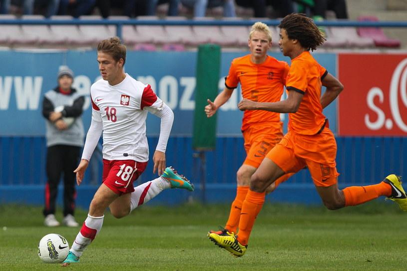 Martin Kobylański (z lewej) w meczu z Holandią /Fot. Jakub Kaczmarczyk /PAP
