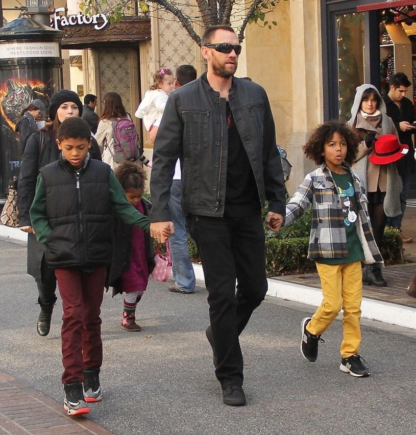 Martin Kristen z dziećmi Heidi Klum /VLNY / Zodiac / Splash News /East News
