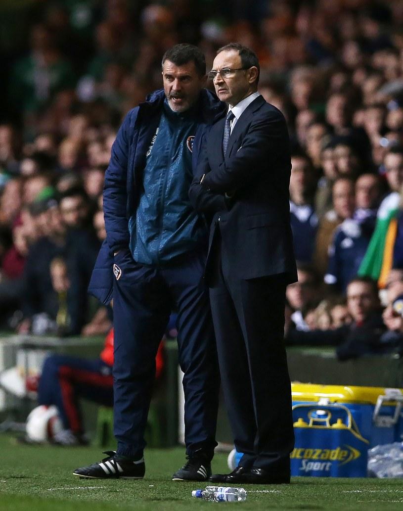 Martin O'Neill (z prawej) i jego asystent Roy Keane /AFP