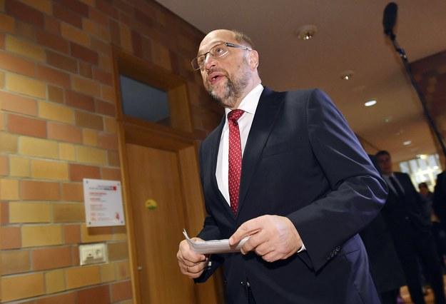 Martin Schultz z SPD /EPA/SASCHA STEINBACH /PAP