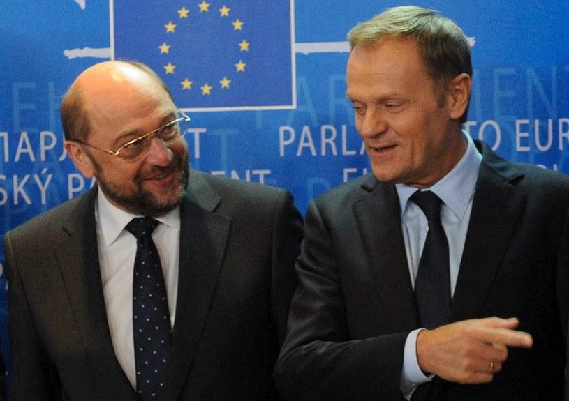 Martin Schulz i Donald Tusk /AFP