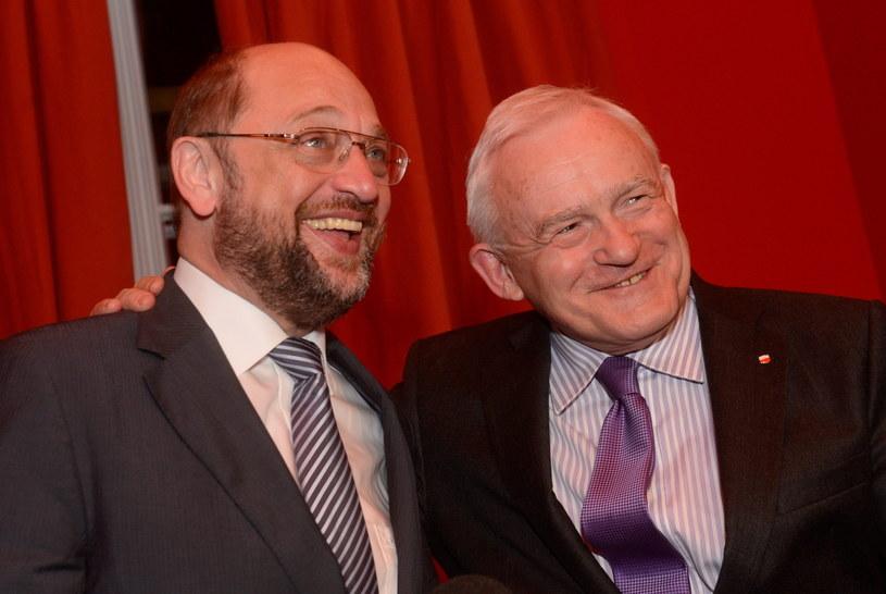 Martin Schulz i Leszek Miller /Bartłomiej Zborowski /PAP/EPA